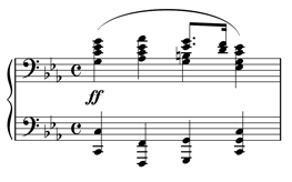 First bar of Chopin's Prelude, Op. 28, No. 20