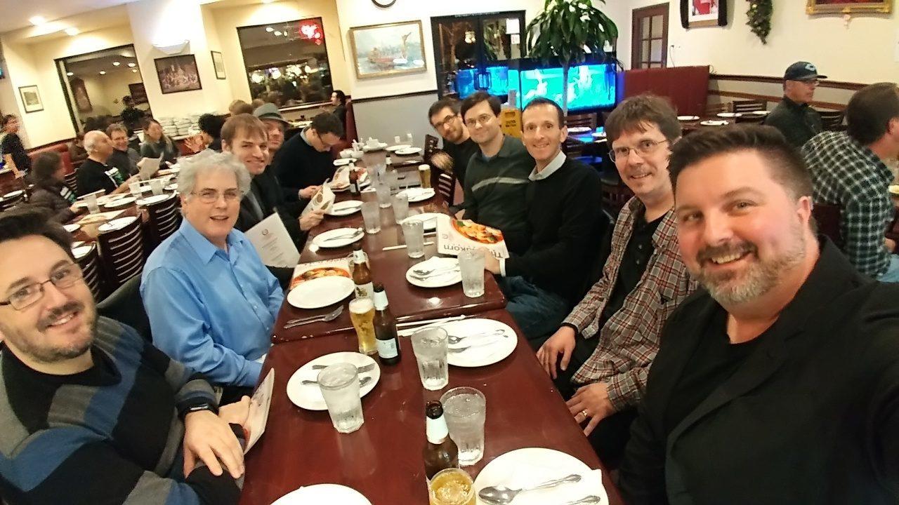 Photo of NAMM 2017 Music Notation Community Group dinner