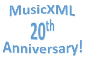 MusicXML 20th Anniversary!