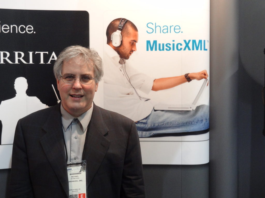 Michael Good at MakeMusic NAMM Booth, 2012